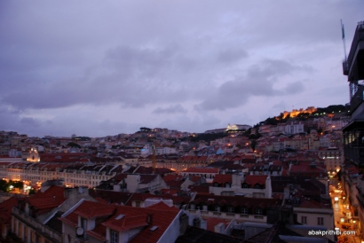 View from Santa Justa Lift, Lisbon, Portugal (8)