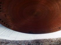 Temppeliaukio Church, Underside of the copper church roof, Helsinki, Finland (11)