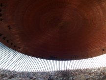 Temppeliaukio Church, Underside of the copper church roof, Helsinki, Finland (11)