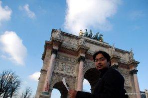 Axe historique, Arc de Triomphe du Carrousel, Paris, France (1)