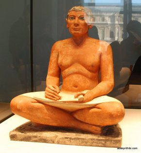 The Seated Scribe , Louvre Palace, Paris