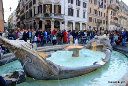 Fountain near Spanish Steps, Rome, Italy (2)