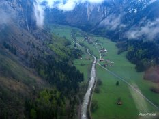 Stechelberg viewed from Cable car, Switzerland (1)
