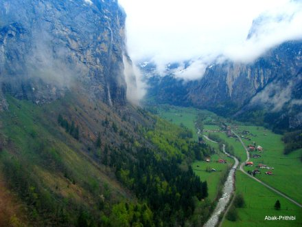 Stechelberg viewed from Cable car, Switzerland (2)