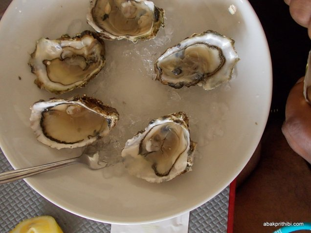Oyster served in Sete, Near Toulouse
