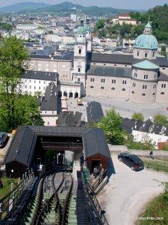Festungsbahn funiculars, Salzburg, Austria