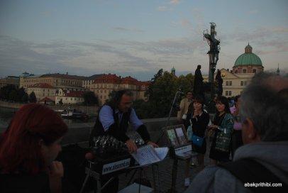 Glass music of Charles Bridge, Prague (2)