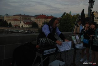 Glass music of Charles Bridge, Prague (3)