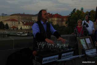 Glass music of Charles Bridge, Prague (4)