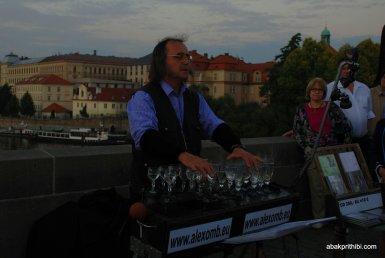 Glass music of Charles Bridge, Prague (4)