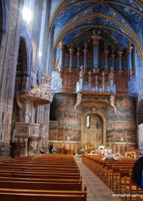 The pipe organ, Albi Cathedral, France, Europe