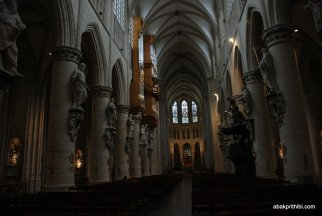 The pipe organ, Brussels cathedral , Belgium, Europe (1)
