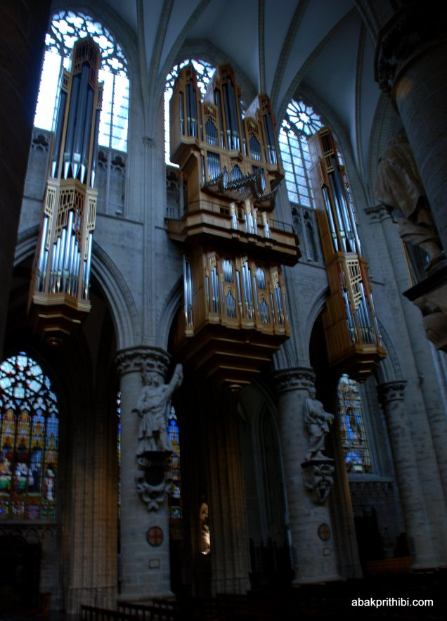 The pipe organ, Brussels cathedral , Belgium, Europe (2)