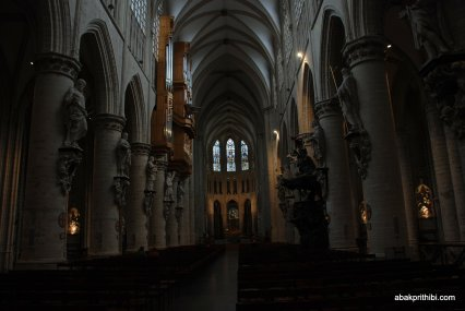 The pipe organ, Brussels cathedral , Belgium, Europe (3)