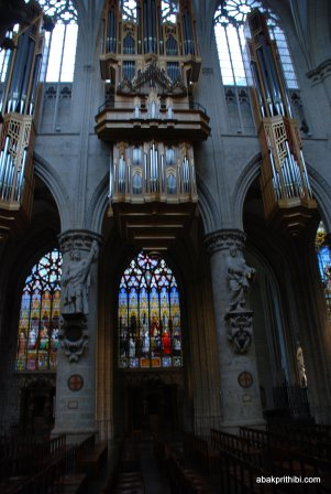 The pipe organ, Brussels cathedral , Belgium, Europe (4)
