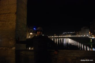 View of the Arno from the Ponte Vecchio, Florence, Italy (1)