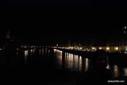 View of the Arno from the Ponte Vecchio, Florence, Italy (2)