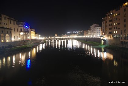 View of the Arno from the Ponte Vecchio, Florence, Italy (4)