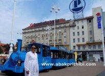 The little train of Zagreb, Croatia