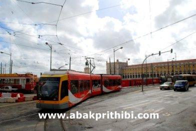 Trams in Lisbon, Portugal