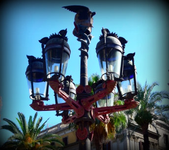 Street light of Barcelona