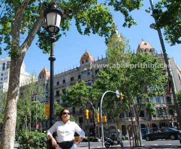 Street lights of Barcelona, Spain (3)